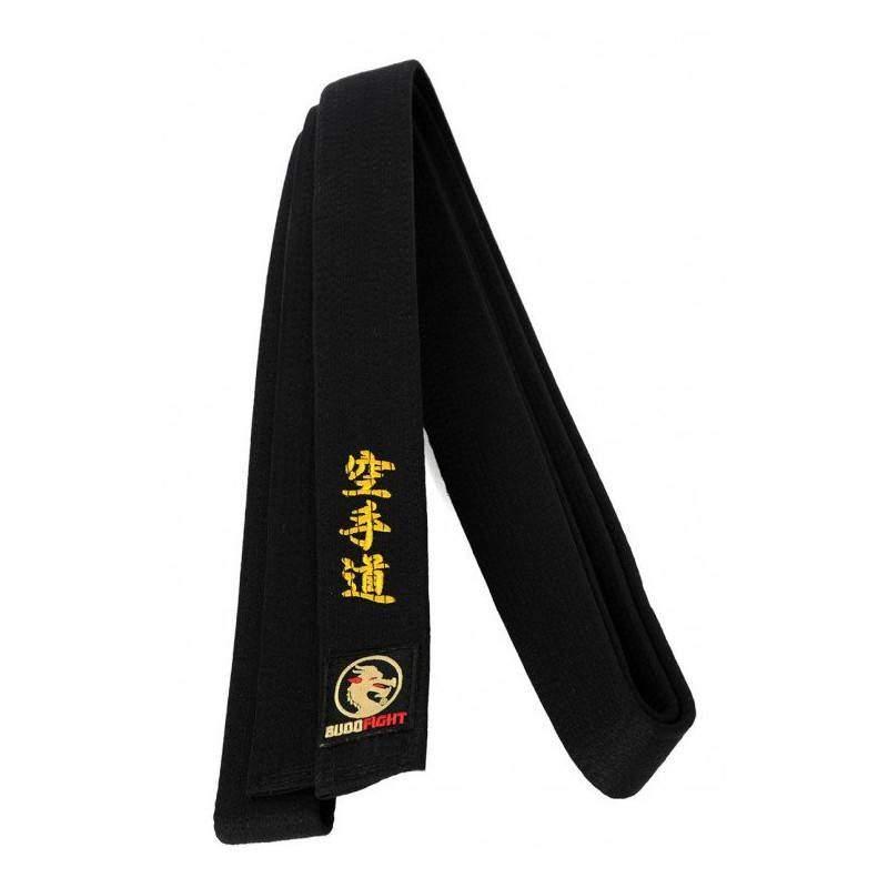 9dffbf28c61e3 Ceinture noire de Karate avec broderie kanji _ Budofight   Ring & Tatami